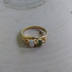 Vintage gold plate ring size 6